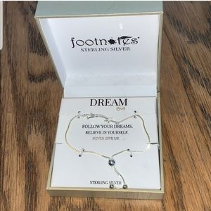 Jewelry - footnotes anklet